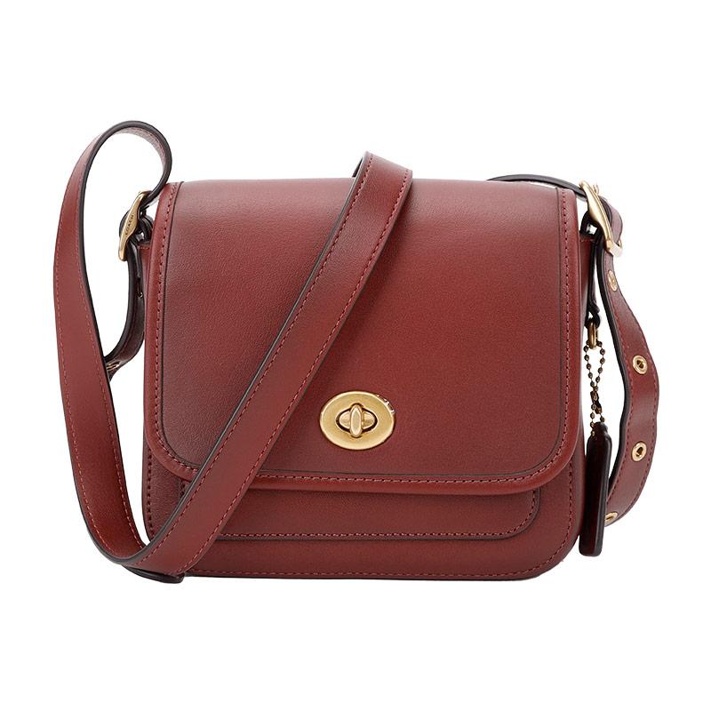 蔻驰 COACH 奢侈品 女士专柜款枣红色皮革单肩斜挎包3029 B4R6G