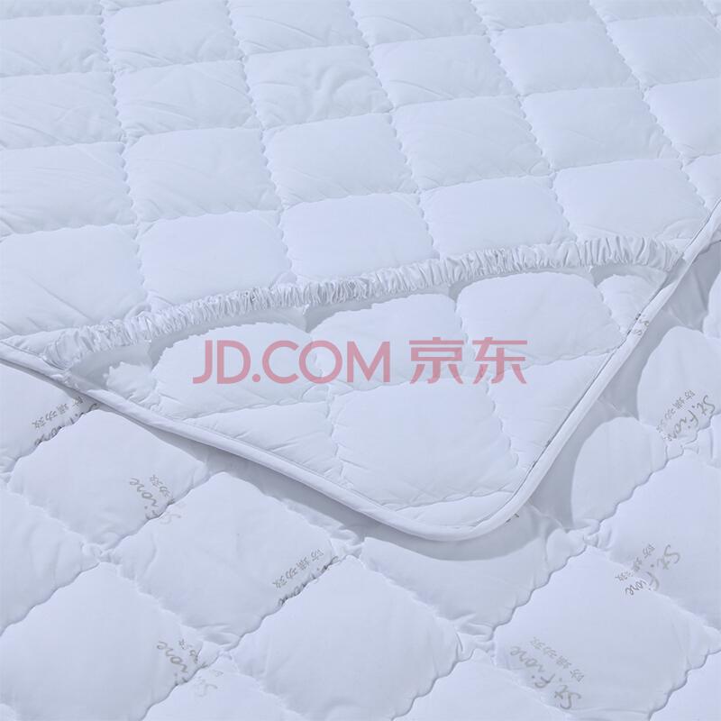 富安娜出品 圣之花 床垫 席梦思防滑防脏防螨床垫保护垫 双人床橡筋款薄床垫床褥子 1.5米床 150*200cm,圣之花(St.fiore)