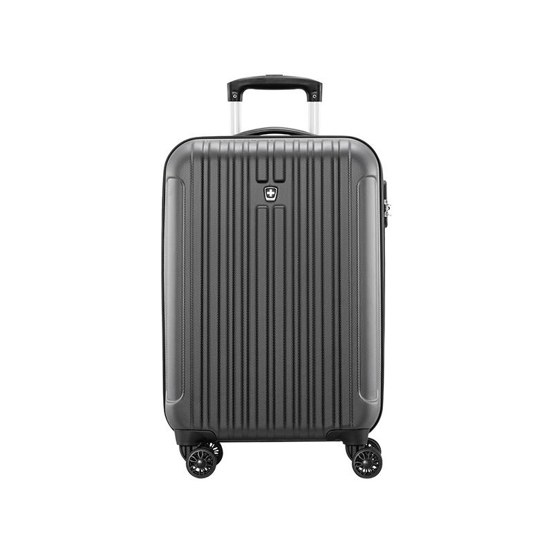 瑞动(SWISSMOBILITY)时尚竖条拉链登机箱MT-5219-14T00 深灰色 20英寸