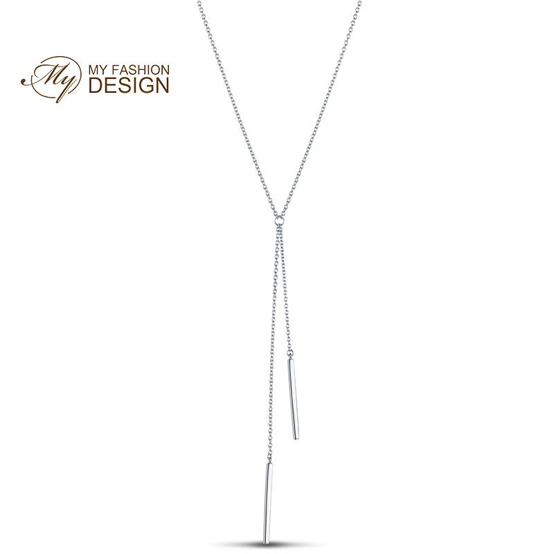 【美国】MY FASHION DESIGN 银项链女S925银首饰品字母Y型颈链脖子链MYN17210