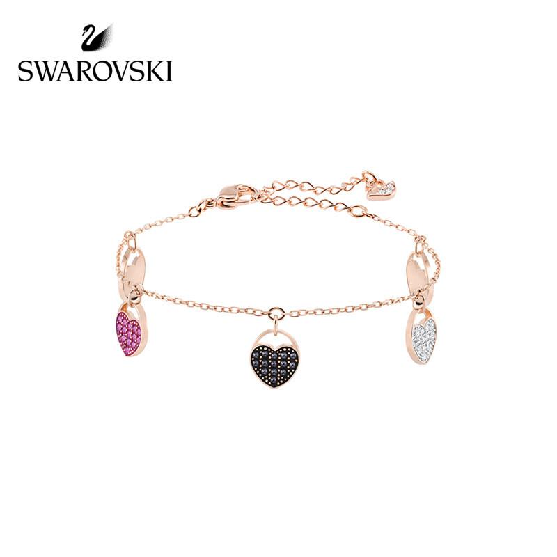 施华洛世奇GINGER 创意心形 清新浪漫 绚丽光彩 女手链 礼物 镀玫瑰金色 5472444