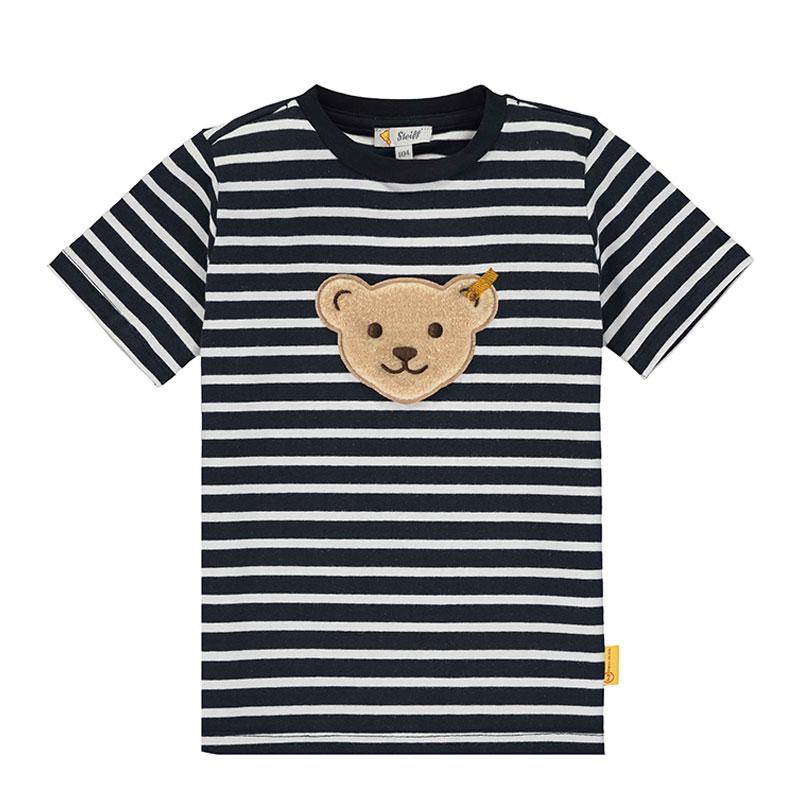 Steiff婴幼儿针织T恤 德国进口 男婴男童小熊短袖T恤 L002012402