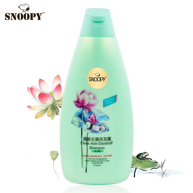 SNOOPY史努比儿童洗发露400g莲花香味清新去屑止痒洗发水