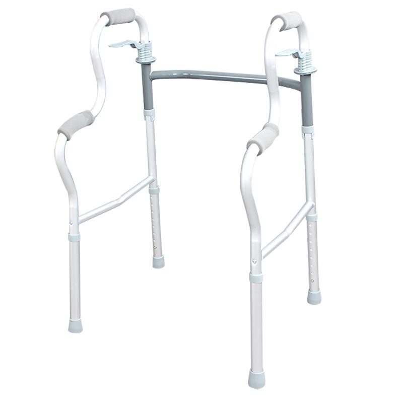 AUFU 佛山东方铝合金助行器FS9632L四角拐杖病人四脚学步轻便折叠手扶拐杖