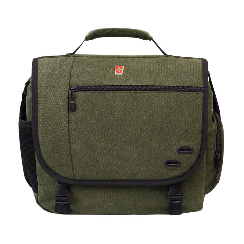 瑞动 斜跨iPad电脑包商务时尚单肩包手提包 绿色MT-5676