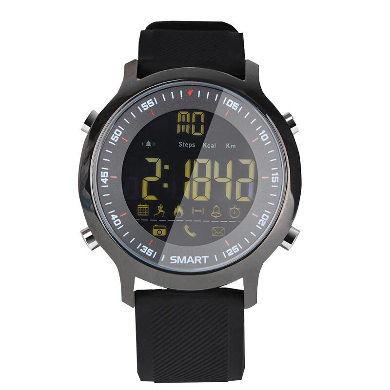 纽曼(Newmine)数字蓝牙智能手表男 计步器时尚防水运动游泳手表EX18