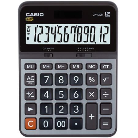 卡西欧(CASIO)DX-120B商务计算器 大型机 灰色 DX-120S升级款