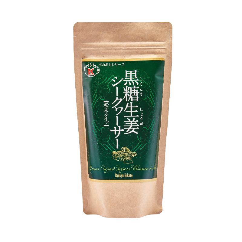 日本进口冲绳琉球公主黑糖生姜柠檬味180g/袋冲剂