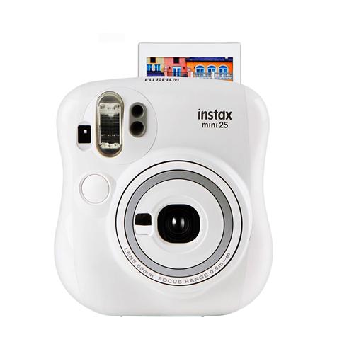 富士(FUJIFILM)INSTAX 一次成像相机 MINI25相机:白色