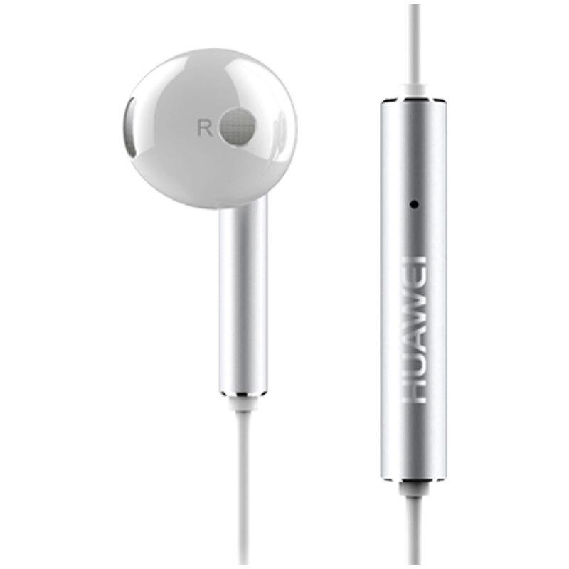 華為(HUAWEI)三鍵線控 半入耳式耳機 白色 金屬版 AM116
