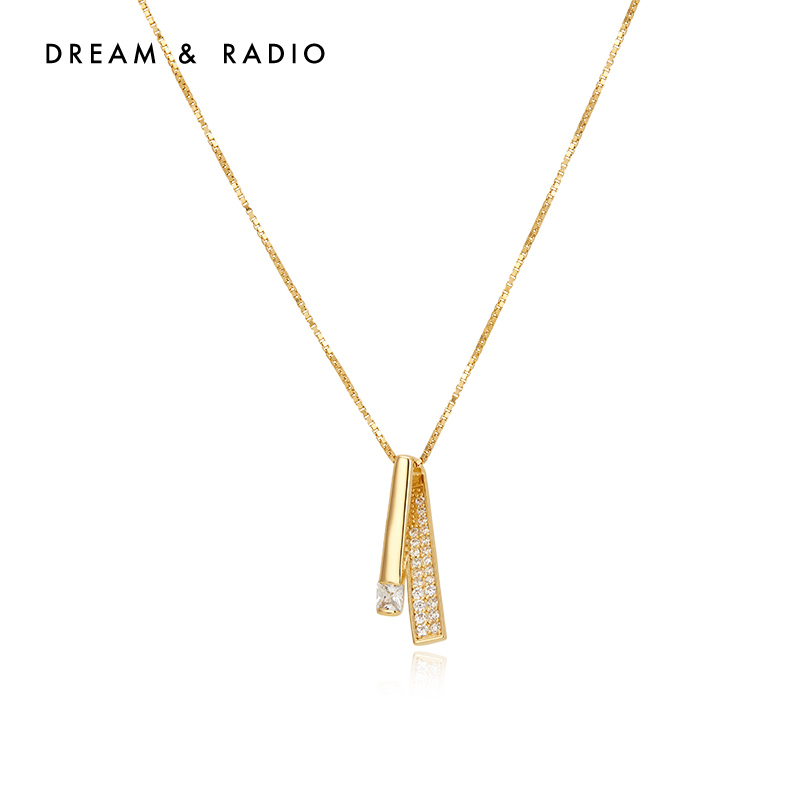 Dream&Radio 微镶项链轻奢小众吊坠925银饰2021年新款女气质脖颈链锁骨链子
