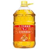 鲁花 食用油 花生香型 食用植物调和油5.7L,鲁花