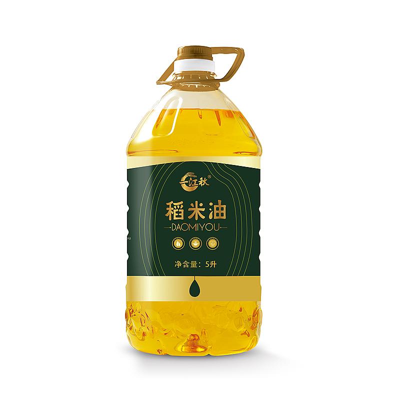 一江秋 食用谷维素稻米油5升一级米糠油大瓶5L家用