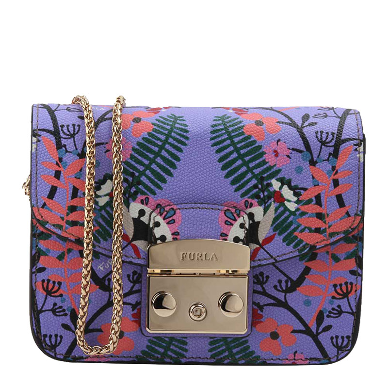 FURLA/芙拉女士花卉印花小方包单肩包链条包941751