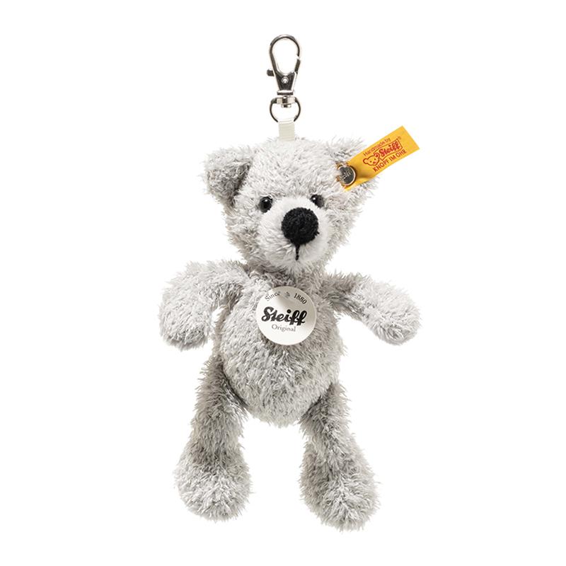 德国Steiff毛绒玩具挂件钥匙链小熊灰色 12cm 4001505112508