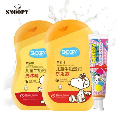SNOOPY史努比无泪配方植物精华儿童洗沐2件套(送牙膏)