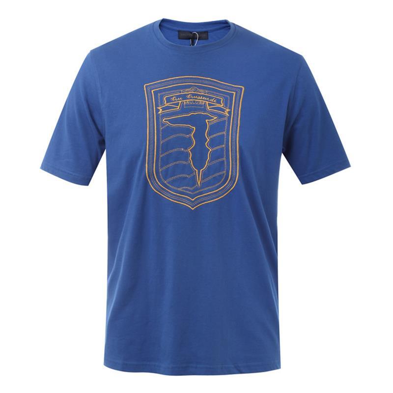 Trussardi/楚萨迪 圆领男士短袖T恤 32T00165 蓝色/深蓝色/黑色/白色