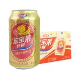 宏寶萊什錦汽水飲料330ml*24罐裝 碳酸飲料 網紅東北果汁味老汽水 20年的味道 整箱禮盒裝家庭裝,宏寶萊