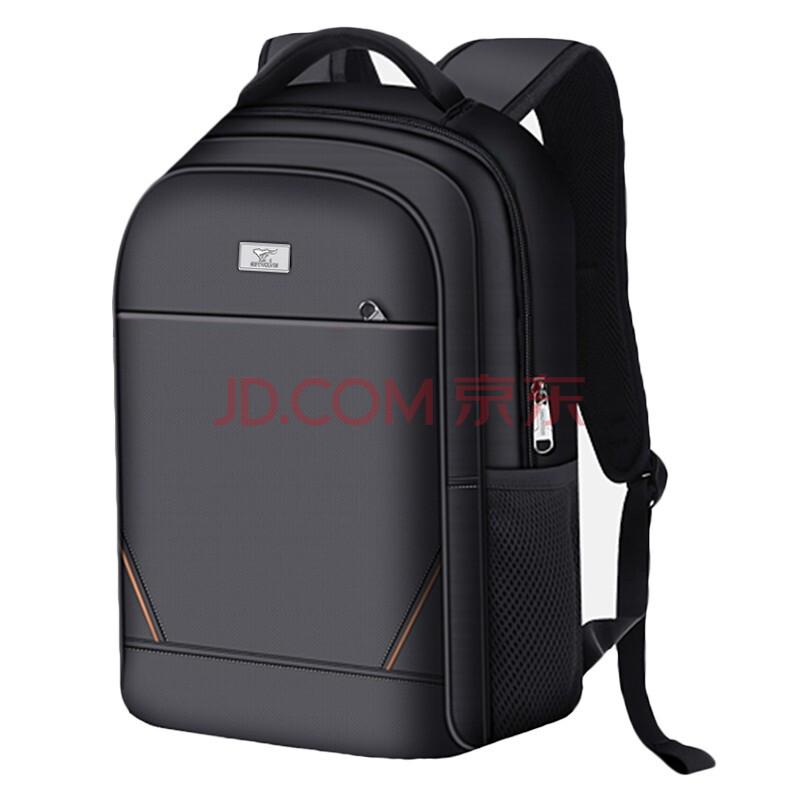 七匹狼电脑包15.6英寸笔记本男女士商务背包双肩包防泼水牛津布旅行包 黑色CD001838-1,七匹狼(SEPTWOLVES)