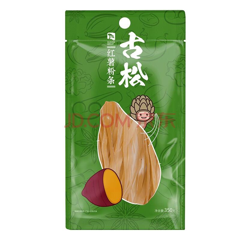 古松方便食品 红薯宽粉条350g 干货火锅粉丝 二十年品牌,古松