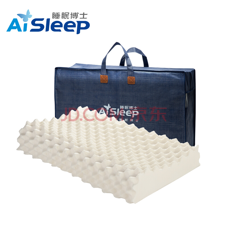 睡眠博士(AiSleep)枕头 超大颗粒泰国乳胶枕进口天然乳胶枕 成人按摩颈椎枕芯 透气柔弹睡眠枕,睡眠博士(AiSleep)