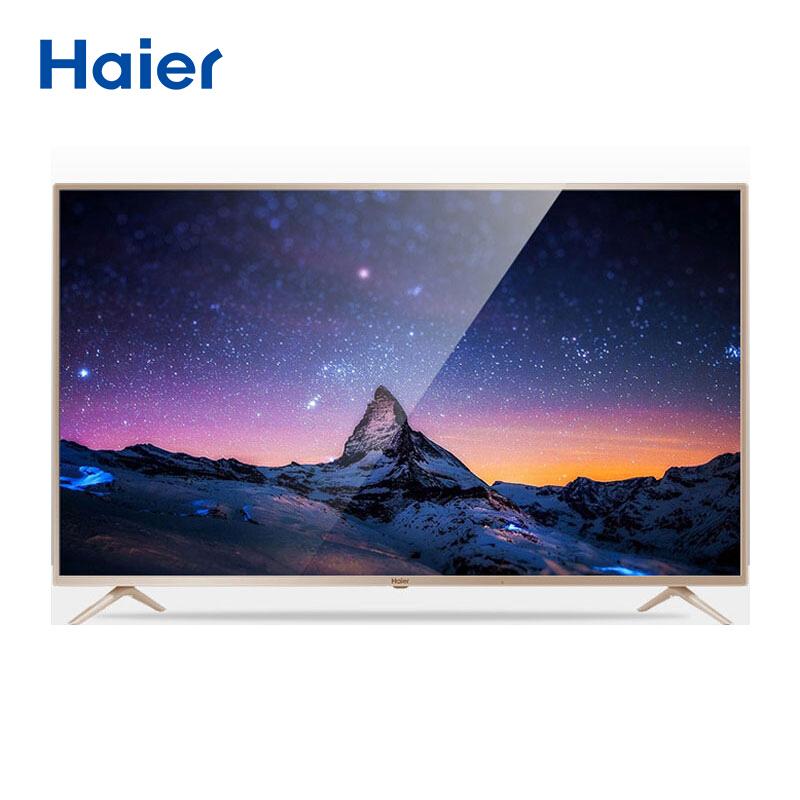 海尔(haier)43英寸 四代 语音搜索 智能平板电视 LE43AL88K88 金色