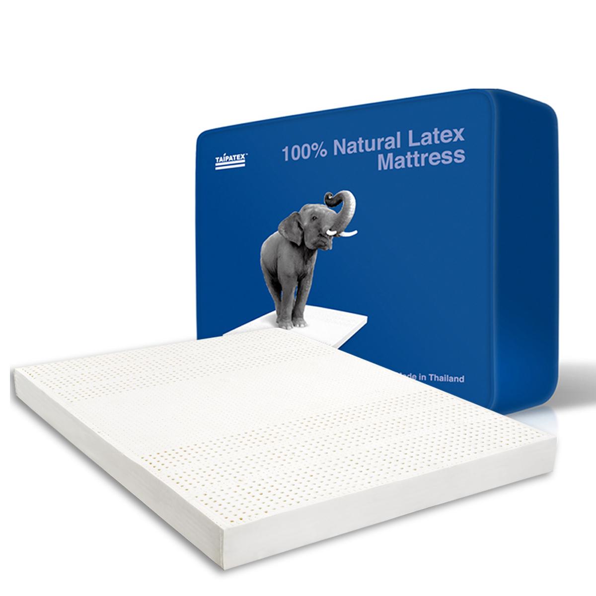 """泰國原裝進口TAIPATEX天然乳膠""""床墊 送枕頭*2 7.5x180x200 cm"""