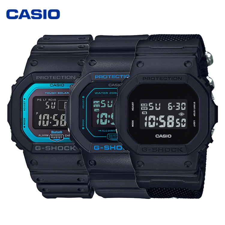 CASIO卡西欧小方块运动手表男表GW-B5600、DW-5600、G-5600系列 赠运动手环