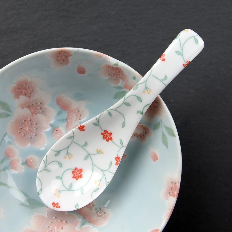 MinoYaki 美浓烧 日本进口 日式和风餐具汤匙汤勺子调羹 陶瓷家用小饭勺创意小汤勺(多款可选)