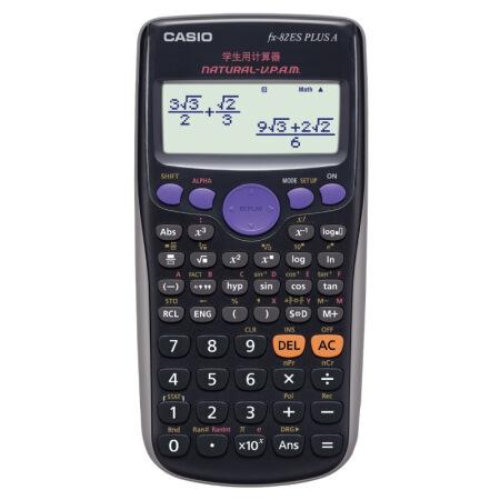 卡西欧(CASIO)FX-82ES PLUS A 函数科学计算器 智黑 大学高中初中考试