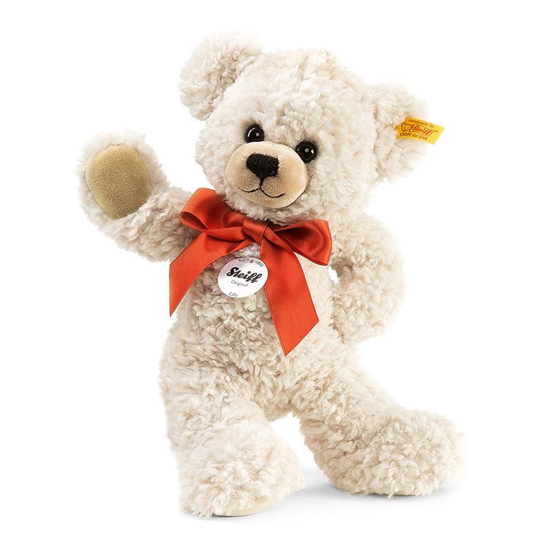 德国Steiff毛绒玩具Lilly泰迪熊白色 28cm 4001505111556