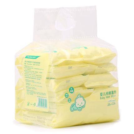 全棉时代袋装婴幼儿清洁专用纯棉湿巾800-003227-01