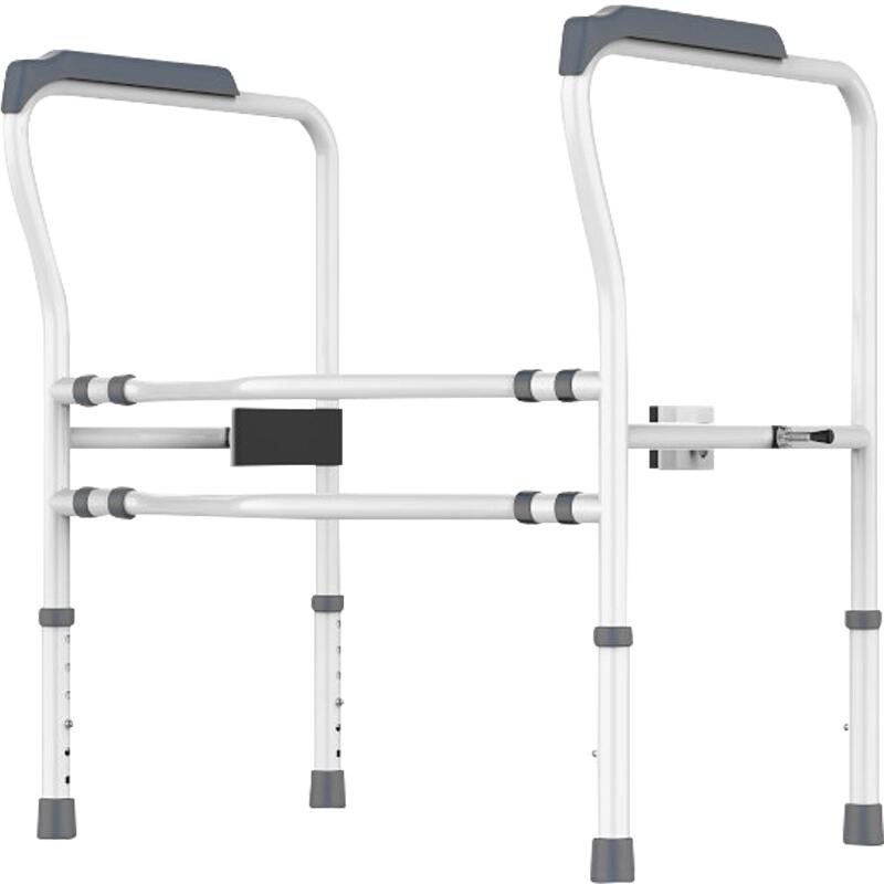 好步(HEPO)老人廁所馬桶扶手殘疾人移動馬桶圍架衛生間助力架坐便椅免打孔孕婦浴室扶手 馬桶扶手LQX050018灰色(升級款)
