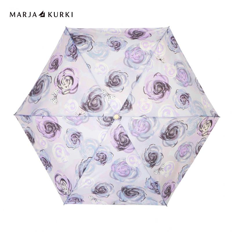 玛丽亚古琦(MARJA KURKI)太阳伞防紫外线 彩胶防晒遮阳伞 五折晴雨伞玫瑰之芳香9DD255390 灰色