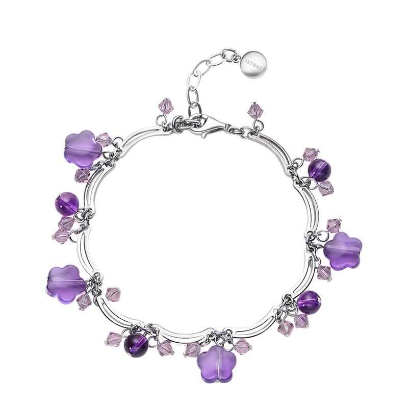 石頭記 魅力放送 合成紫晶手鏈手串女
