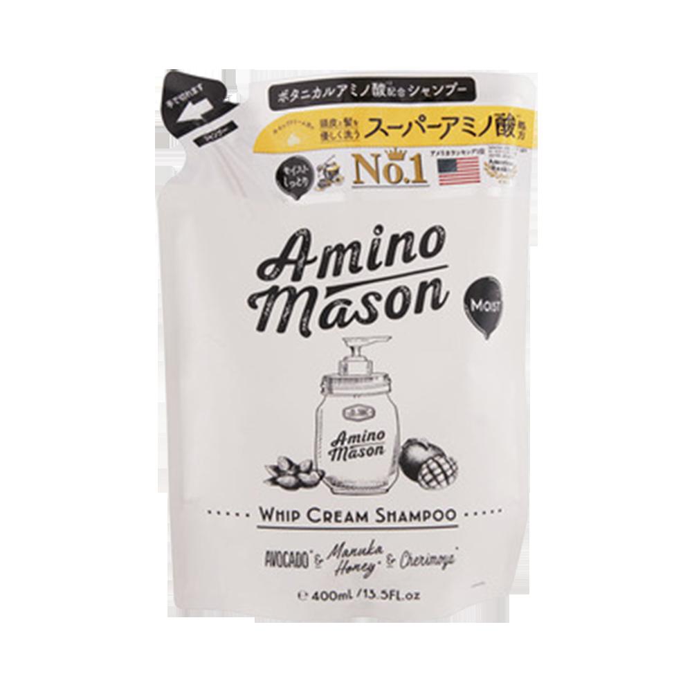 Amino mason 牛油果氨基酸無硅保濕洗發水 替換裝 400ml