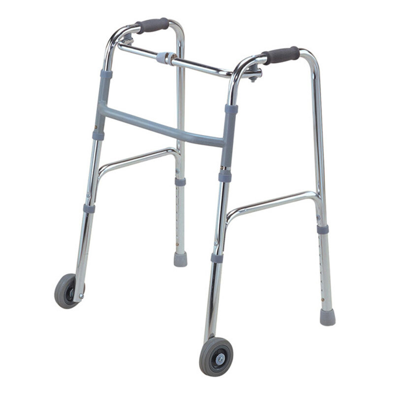 AUFU 佛山东方 铝合金可折叠带轮助行器FS912L 残疾人助步器