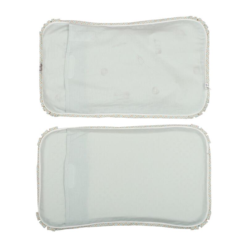 贝谷贝谷 婴儿枕头0-1-6岁苎麻透气定型枕儿童乳胶护头枕新生儿宝宝用品适用 盒装 咚暖夏凉枕