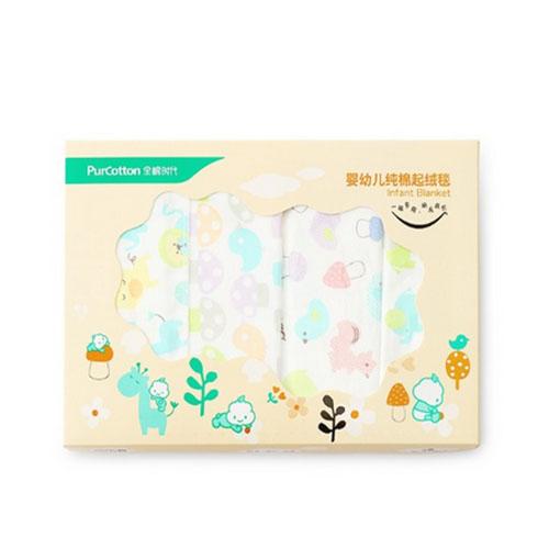 全棉时代婴幼儿纯棉起绒毯76cm*95cm800-004232