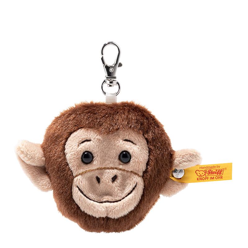 德国Steiff毛绒玩具挂件猴子钥匙链棕色 7cm 4001505112485