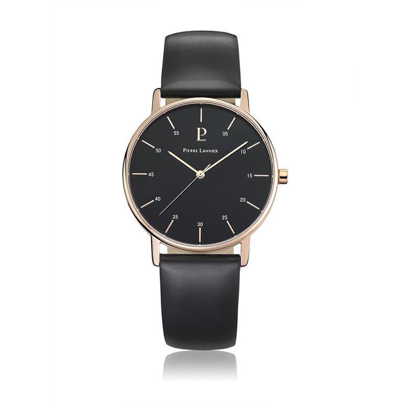 Pierre Lannier连尼亚休闲男士手表法国原装进口防水石英皮带手表203F033
