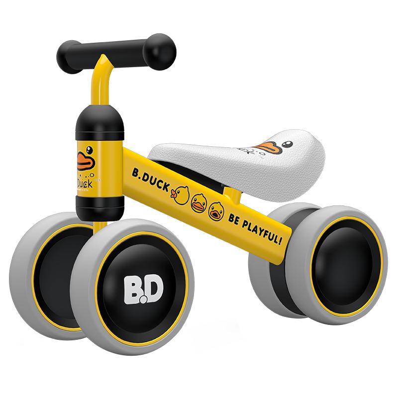 乐的(Luddy)儿童平衡车学步车可坐可滑行防侧翻减震降噪滑步车 小黄鸭 1-2岁