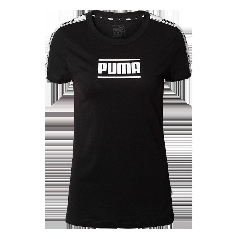 彪馬PUMA 女子 休閑 T恤 CAMO PACK TAPE 短袖 845059 01黑色M碼