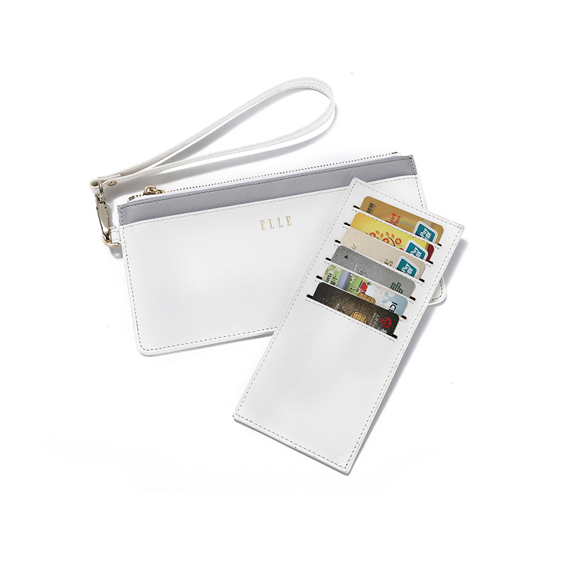 ELLE(她)长款便携卡包/手拿包GH162P90010(白色)