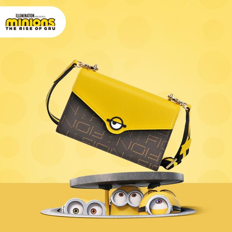 菲安妮夏季新品小黃人聯名系列可愛卡通女士信封包斜挎包單肩小背包