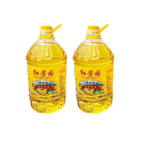 紅芳園一級大豆油 非轉基因食用油 凈含量:5L