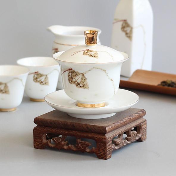 羊脂白玉盖碗