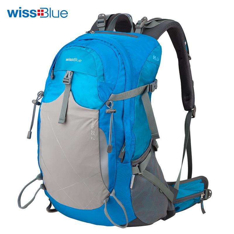 维仕蓝 户外双肩登山包 WB1074(蓝色)