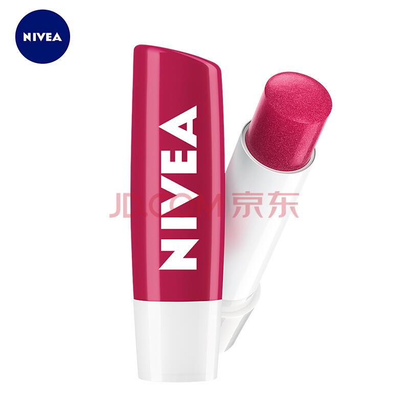 妮维雅(NIVEA)星果之恋润唇系列-丝润樱桃4.8G(护唇膏口红前打底唇彩),妮维雅(NIVEA)