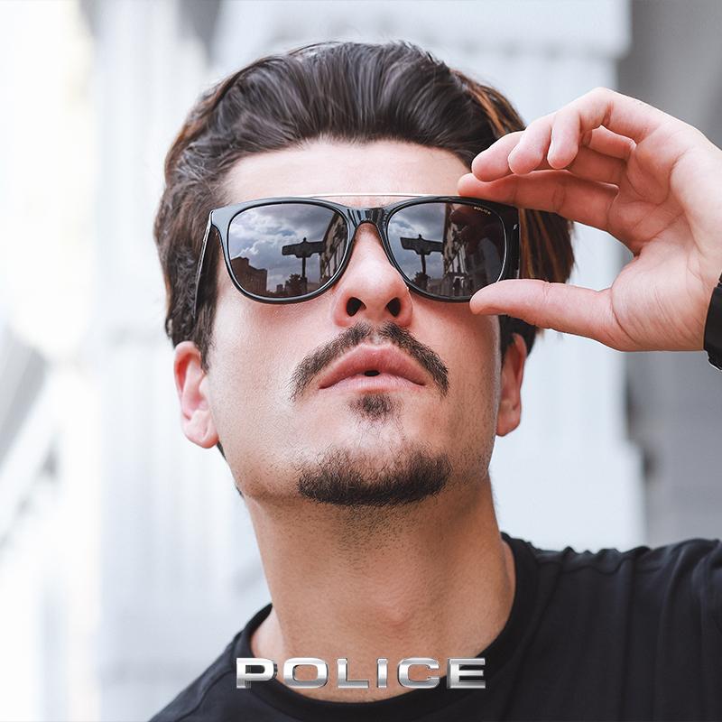 意大利POLICE男士春夏太阳眼镜时尚全框板材偏光墨镜SPLA33J